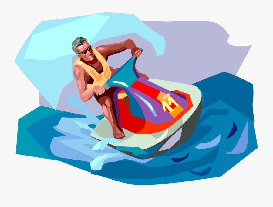 Transparent Jet Ski Clipart - Jet Ski Illustration, Transparent Clipart