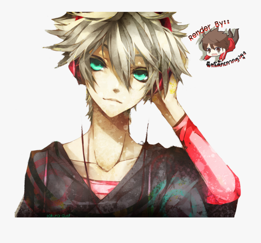 Anime Guy Render By Hohoemi Happi - Anime Boy With Blonde Hair, Transparent Clipart