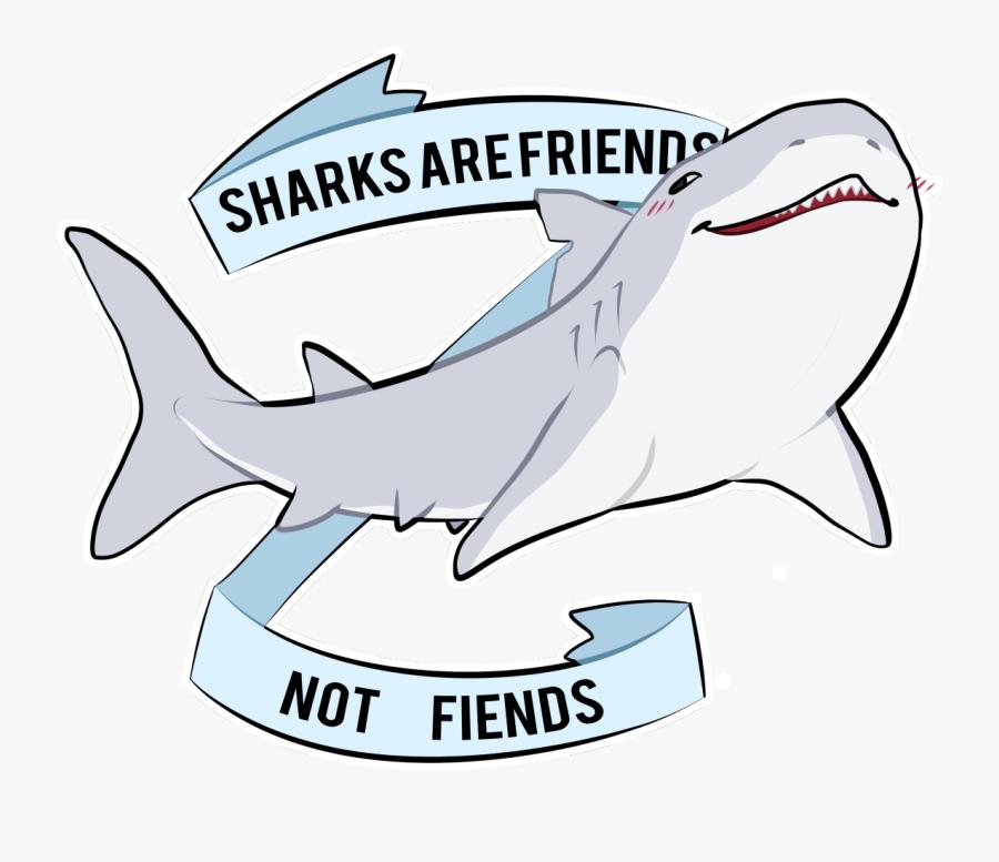 Great White Shark Cartoon Drawing - Sharks Are Friends Not Friends, Transparent Clipart