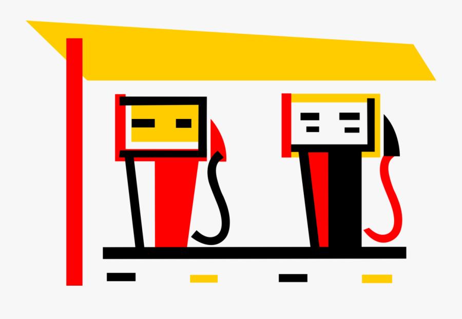 Vector Illustration Of Gasoline Petroleum Fossil Fuel - Dibujos Animados Sobre Combustibles Fosiles, Transparent Clipart
