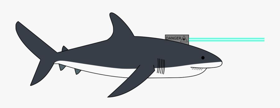 Transparent Laser Beam Clipart - Great White Shark, Transparent Clipart