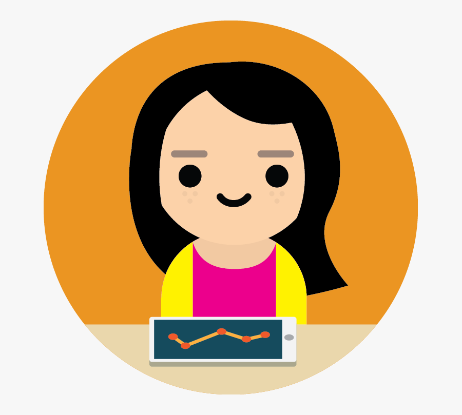 Girl Student Icon Png, Transparent Clipart
