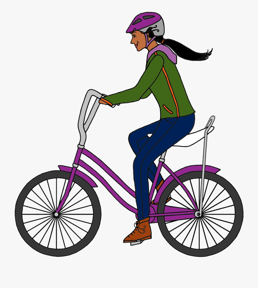 Girl On A Schwinn Color 1 - Varanasi Junction Railway Station, Transparent Clipart