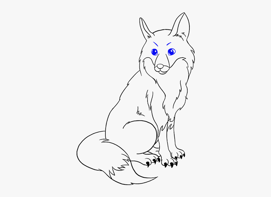 Another Fox - Fox Drawing For Kids, Transparent Clipart