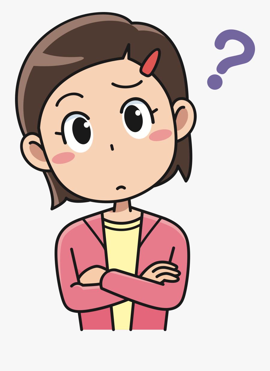 Cartoon Computer Icons Drawing Woman - Thinking Cartoon ...