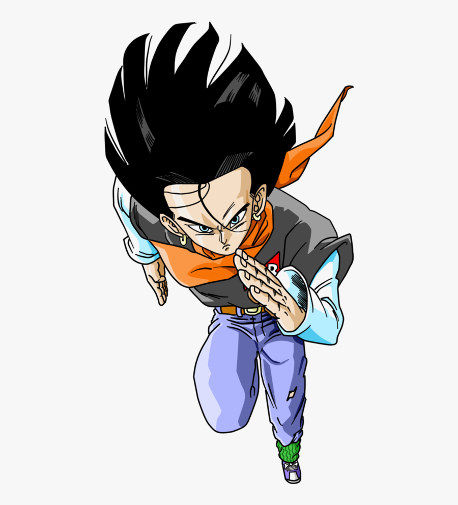 Dragon Ball Z Android 17 Png , Transparent Cartoons - Android 17, Transparent Clipart