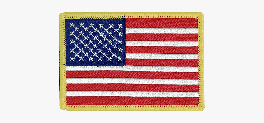 Embroidery Patch American Flag, Transparent Clipart