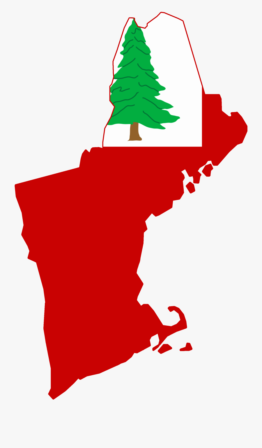 File Flag Map Of - New England Region In Usa, Transparent Clipart
