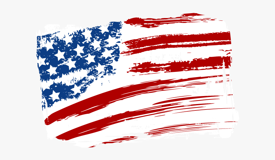 Flag Of The United States Independence Day - Us Flag Heart Clip Art, Transparent Clipart