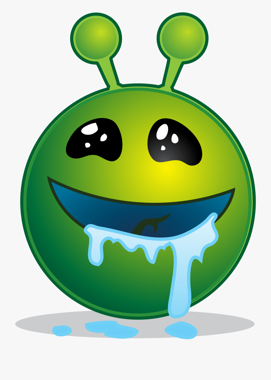 File Smiley Alien Droling Svg Wikimedia Commons - Smiley Alien Png, Transparent Clipart