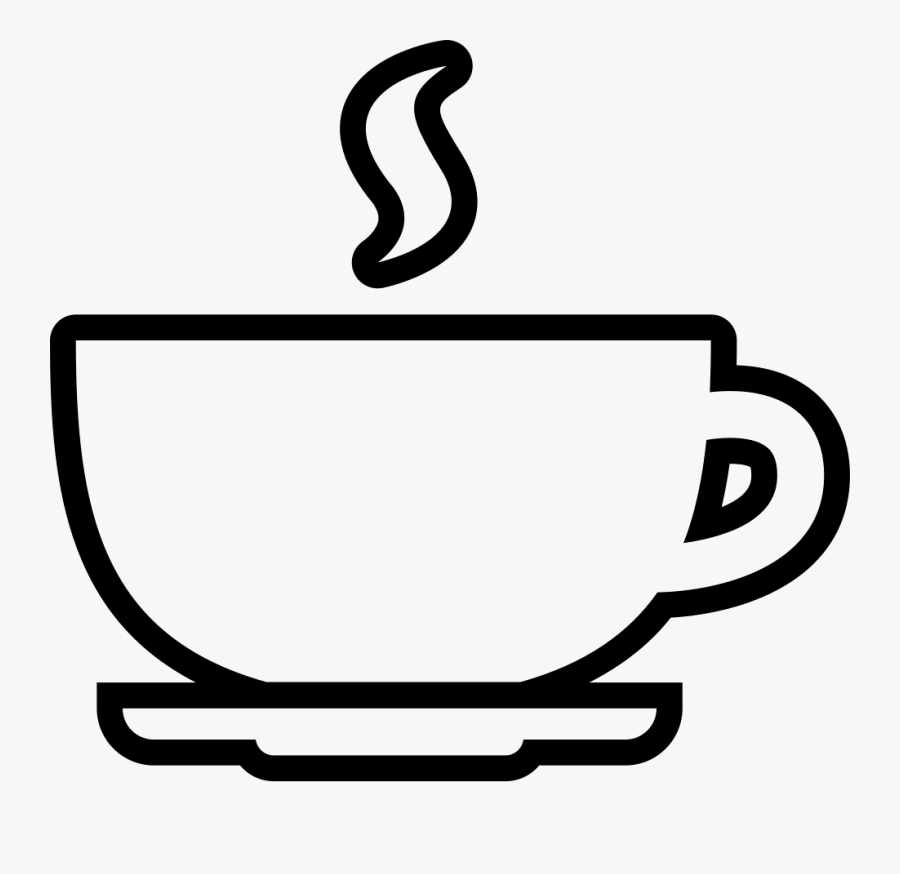 Coffee Cup Outline Svg Png Icon Free Download - Coffee Cup Drawing Png, Transparent Clipart