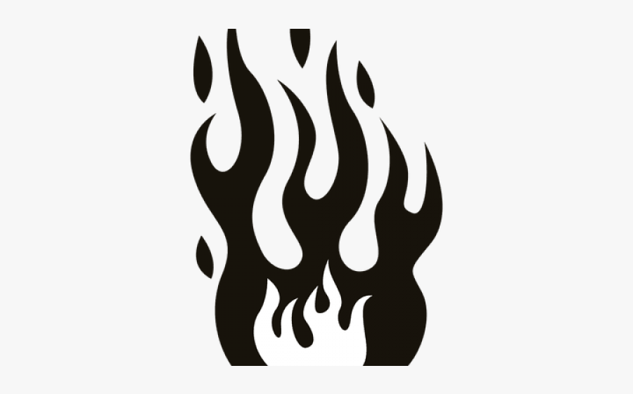 Fire Flames Clipart Black And White, Transparent Clipart