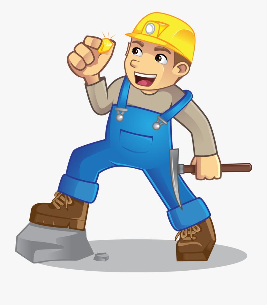 Miner Boots Graphicdesigner Graphic Design Rock Cave - Cartoon, Transparent Clipart