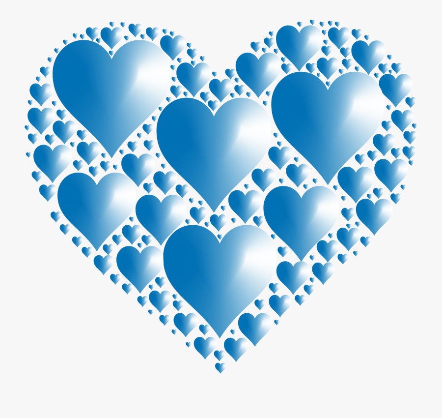 Clipart - Blue Hearts Transparent Background, Transparent Clipart
