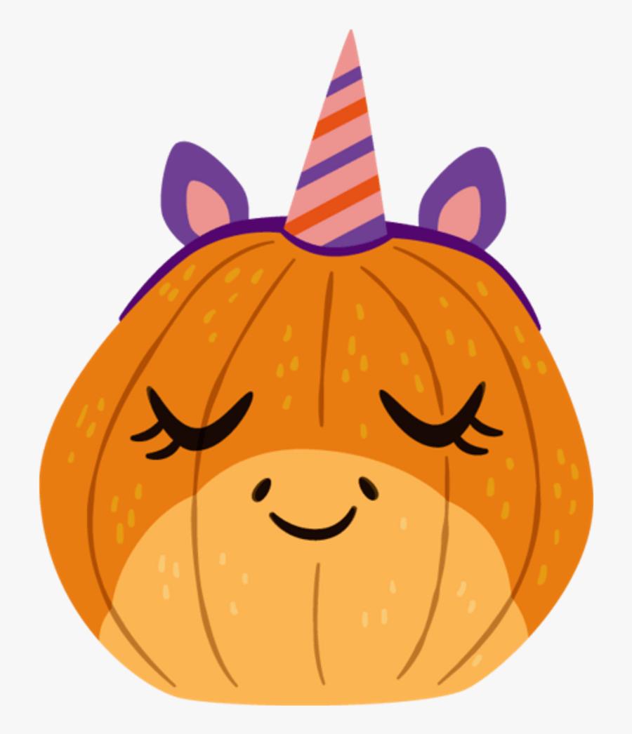 Mq Emoji Emojis Unicorn Pumpkin Halloween - Pumpkin Emoji Transparent, Transparent Clipart