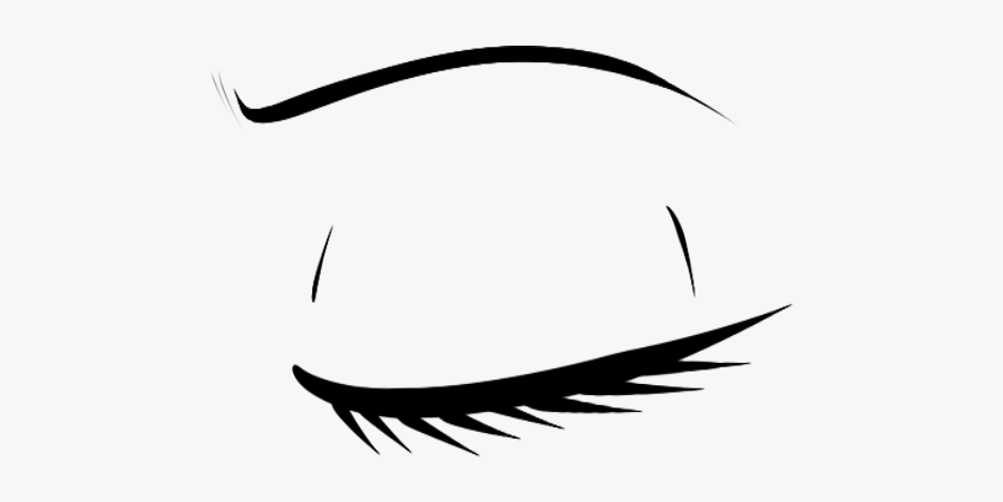 Clip Art Collection Of Free Transparent - Closed Eyes Drawing Transparent, Transparent Clipart