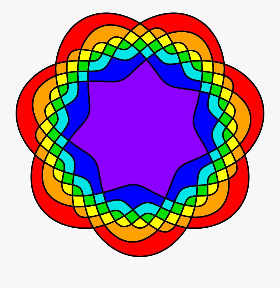 7 Part Venn Diagram, Transparent Clipart