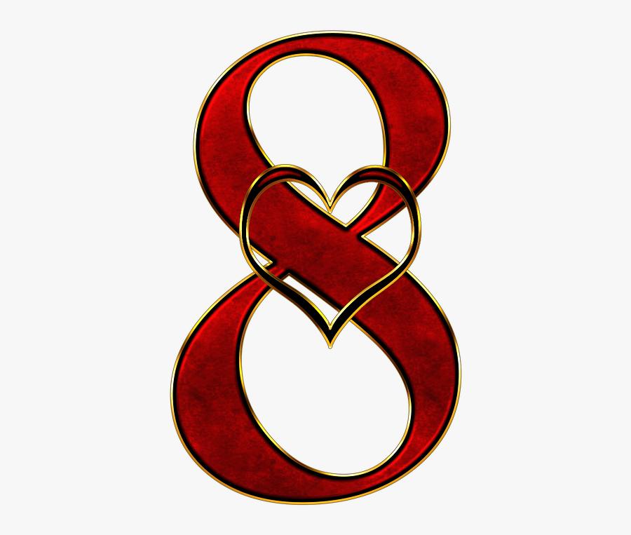Heart - Gambar Angka 8 Yang Keren, Transparent Clipart