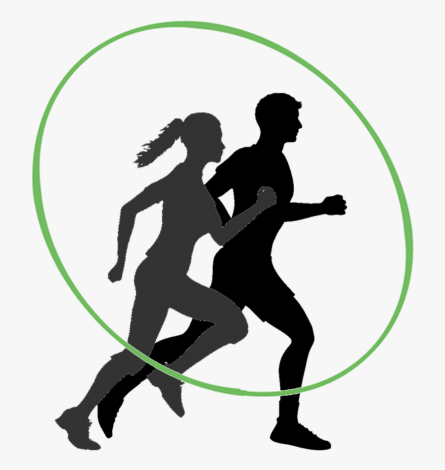 The 5-week Transition Plan For New Runners - Running Man And Woman Silhouette, Transparent Clipart