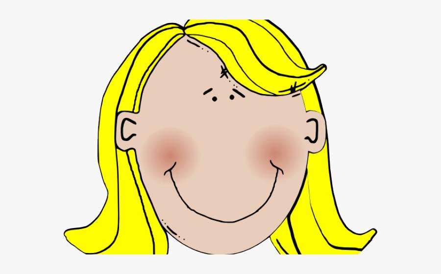 Woman With Blonde Hair Clipart - Girl Blonde Hair Cartoon, Transparent Clipart