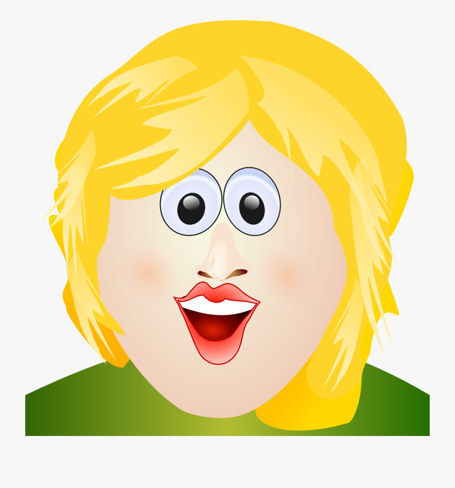 Ugly Yellow Hair Head, Transparent Clipart