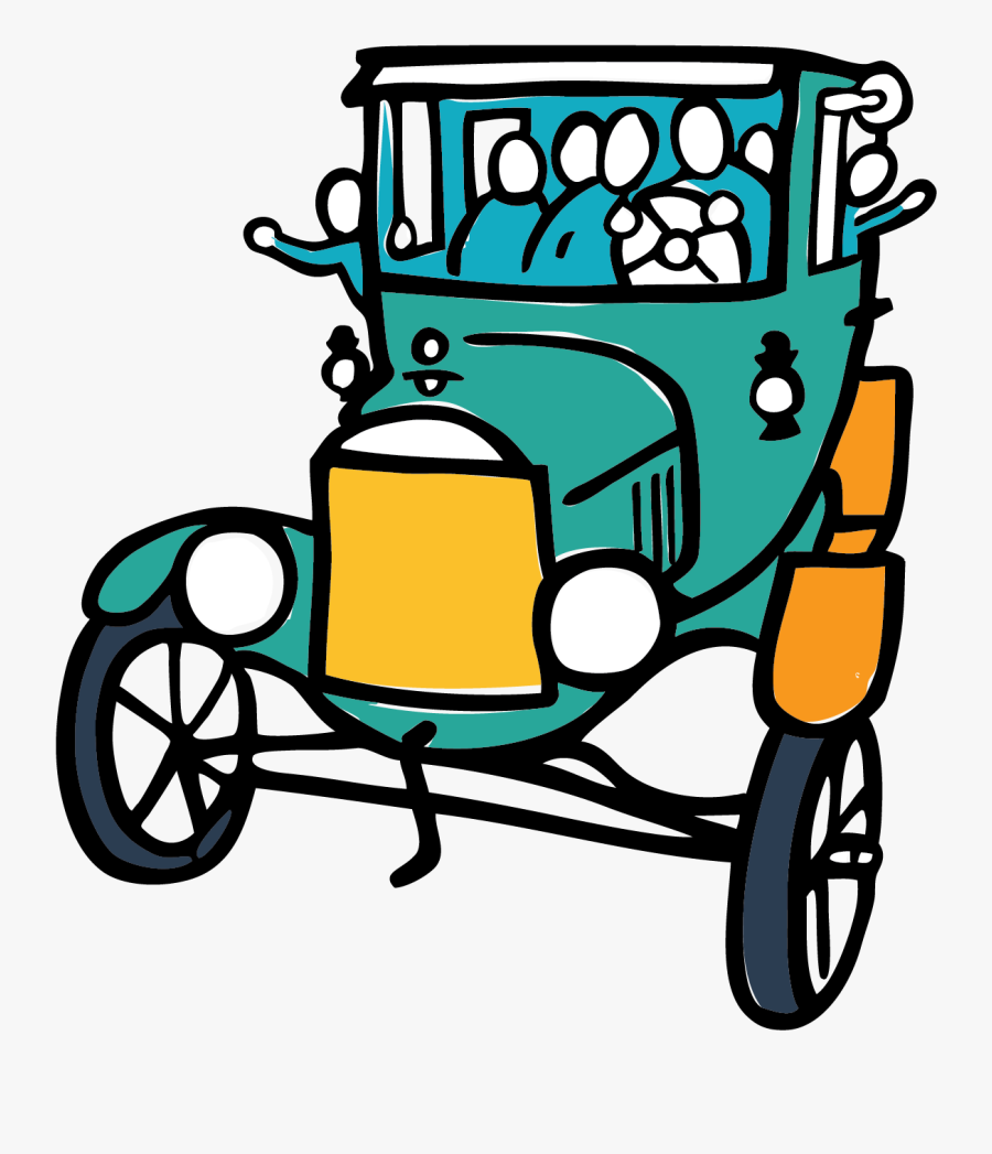 Model T Filled Happy People Clipart , Png Download - Ford T Model Transparent Cartoon, Transparent Clipart