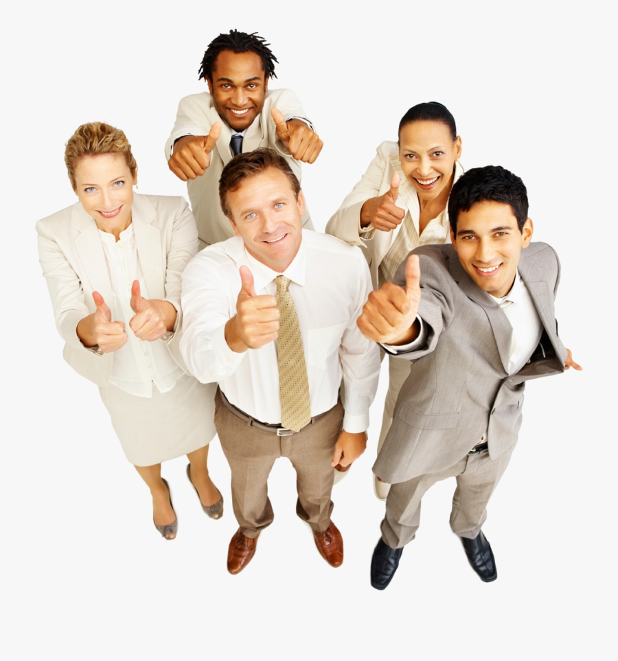 Clip Art Happy Business People - Business People Thumbs Up, Transparent Clipart