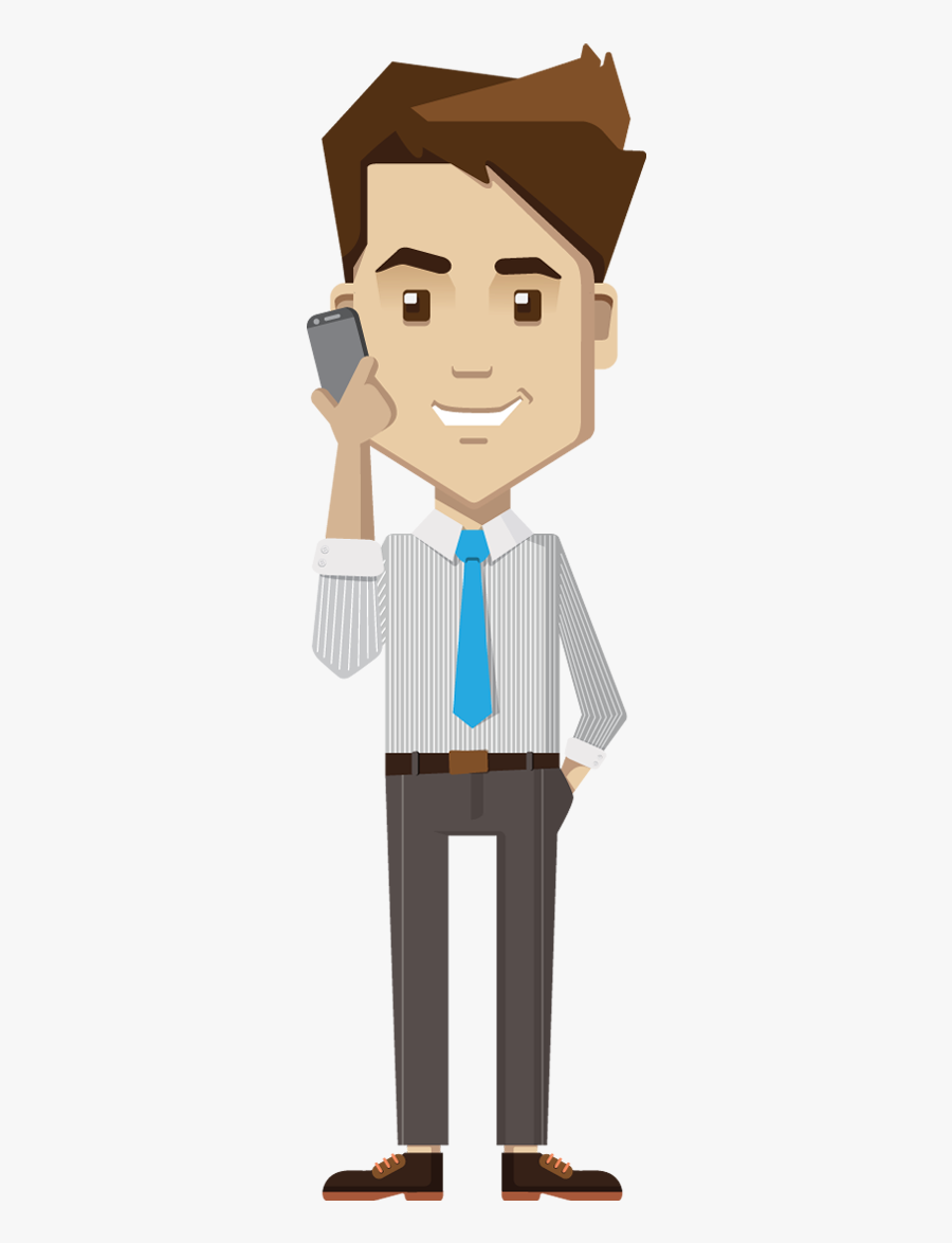 Business - Talking In Mobile Png, Transparent Clipart