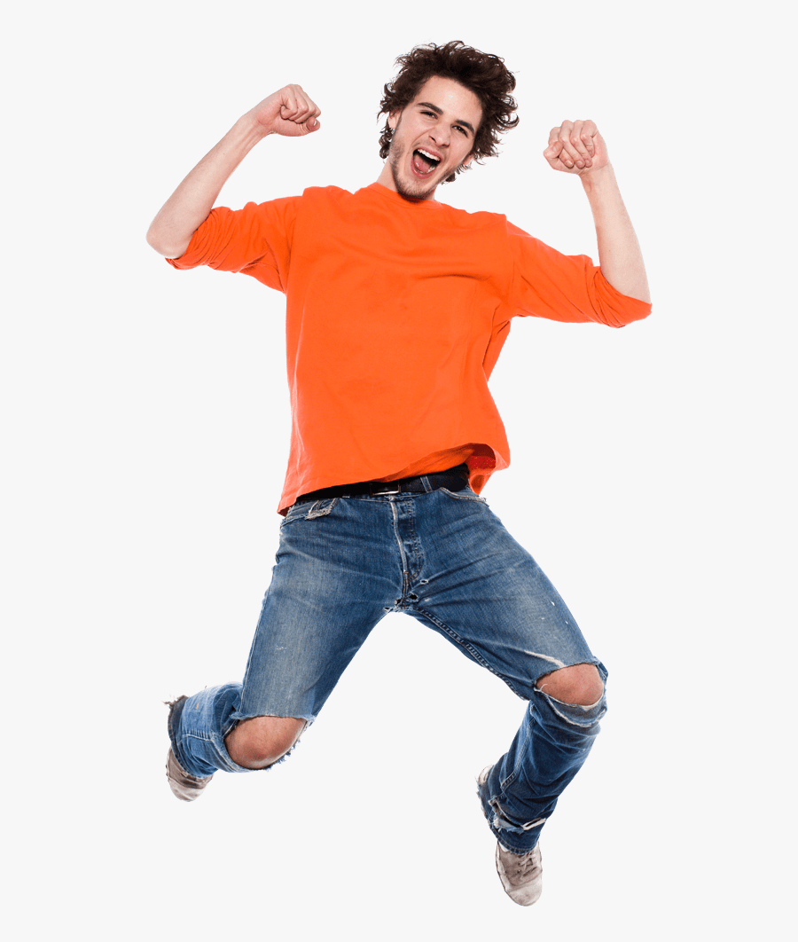 Transparent Person Jumping Clipart - Happy Man Jumping Png, Transparent Clipart