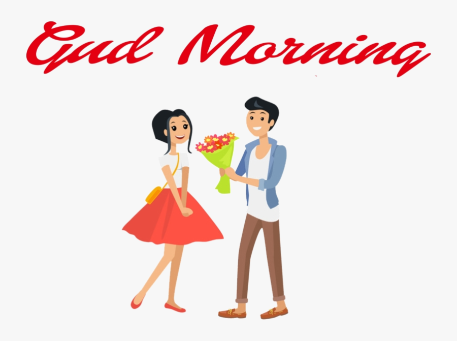 Happy Valentines Day Gud Morning Clipart Couple Transparent - Happy Valentine Day Two Man, Transparent Clipart