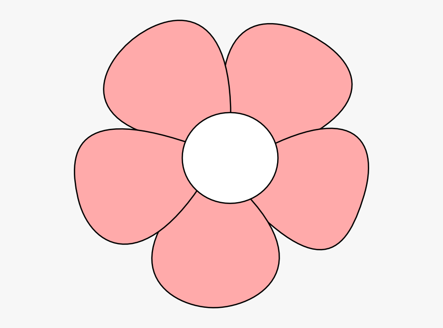 Simple Flower Pink Clip Art At Clipart Library - Pink Flower Drawing Easy, Transparent Clipart