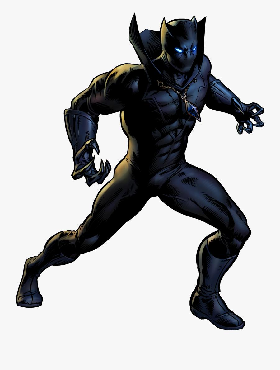 Superhero Panther Character Fictional Book Black Comic - Marvel Black Panther Superhero, Transparent Clipart