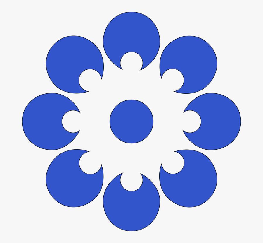 Blue,flower,symmetry - Bombay Bicycle Club Artwork, Transparent Clipart