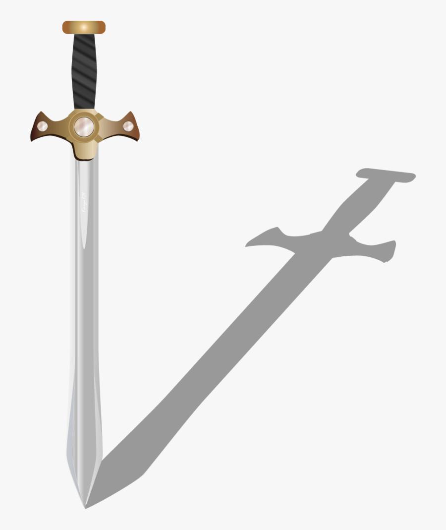 Transparent Broadsword Clipart - Png Swords Vector, Transparent Clipart
