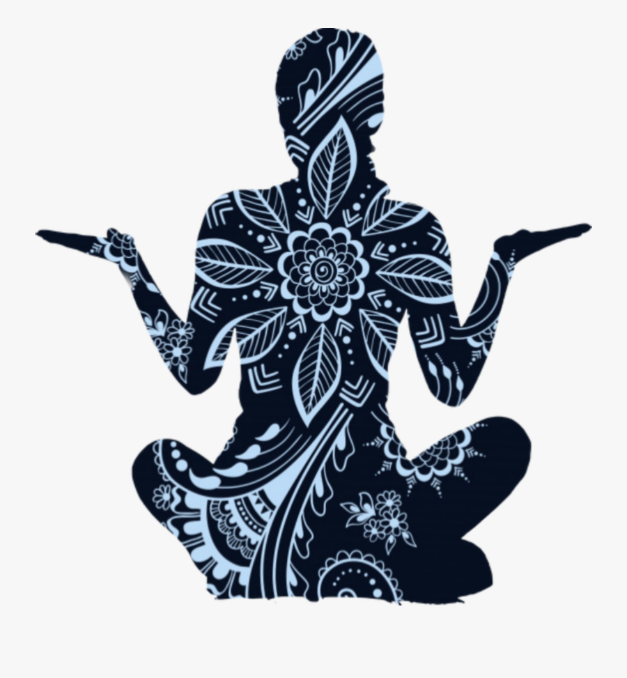 #yoga #zen #namaste #meditation #bandha #art #outline - Yoga, Transparent Clipart