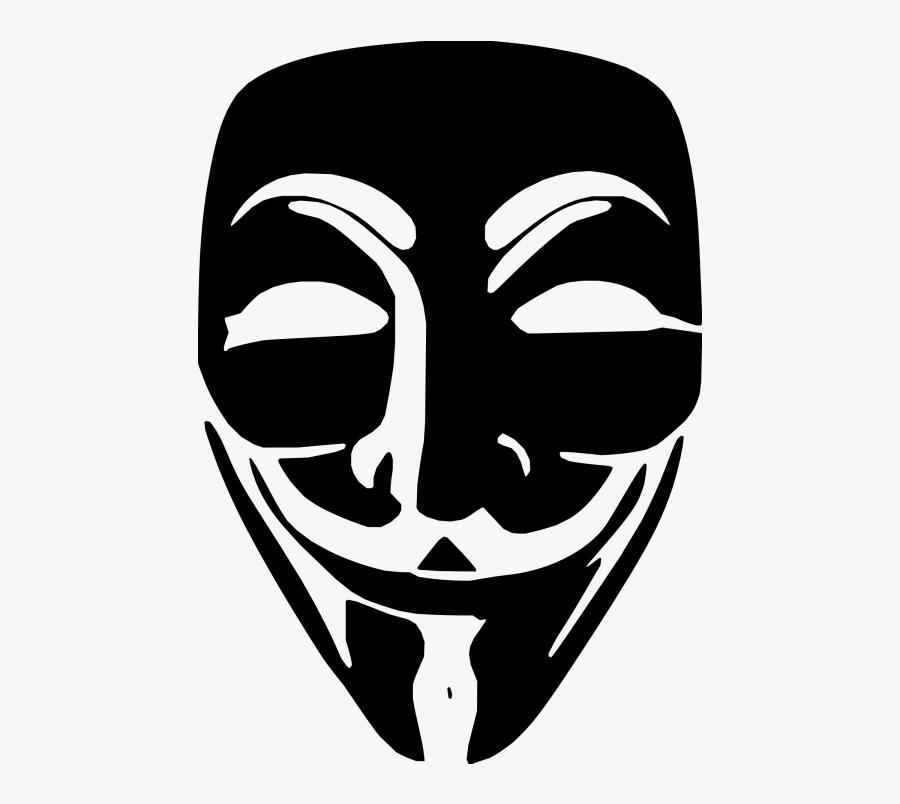 Black Anonymous Mask Png, Transparent Clipart