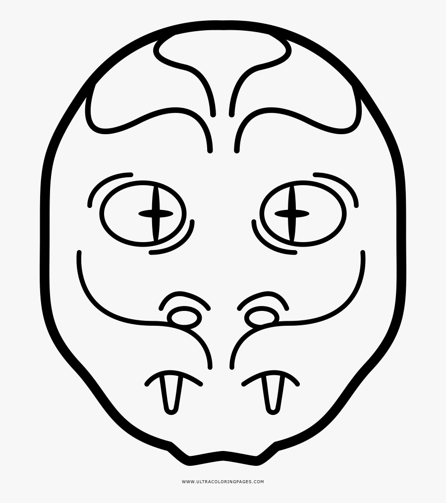 Snake Face Mask Coloring Page Clipart , Png Download - Mask, Transparent Clipart