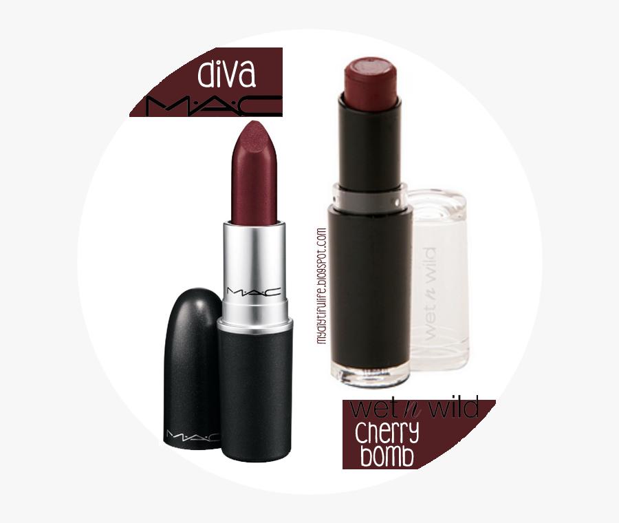 Transparent Lipstick Clipart - Purple Black Lipstick Mac, Transparent Clipart