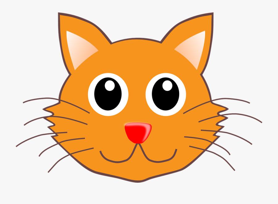 Feline Clipart Cat Face - Clip Art Cat Head, Transparent Clipart