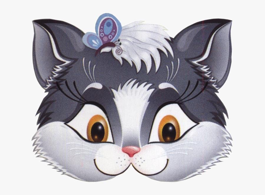 Transparent Face Paint Clipart - Kitten Face Mask, Transparent Clipart