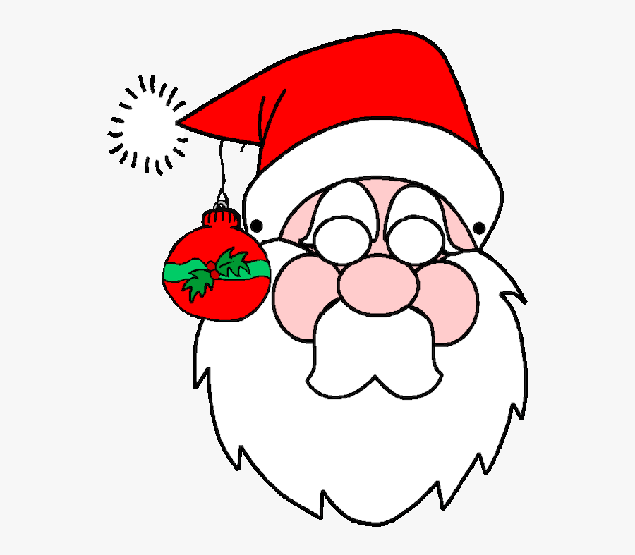 Christmas Coloring Pages Printables Pinterest - Santa Coloring Pages , Free  Transparent Clipart - ClipartKey