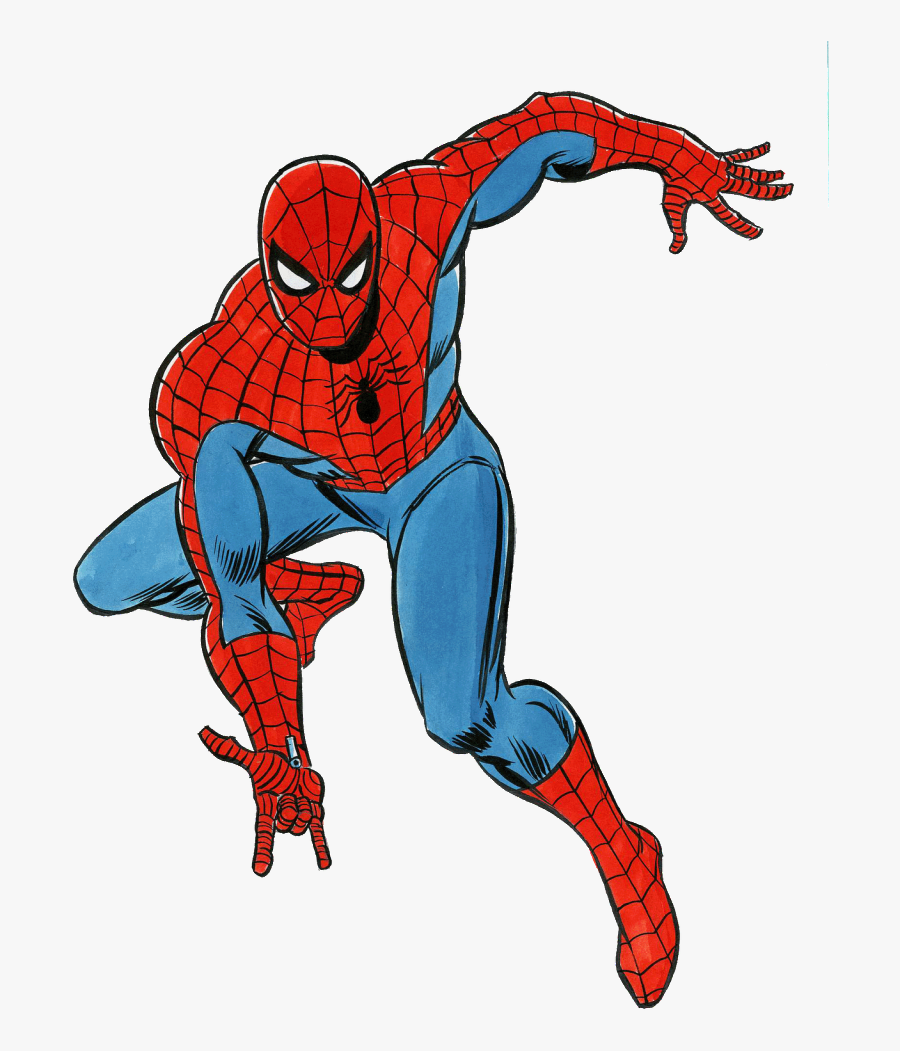 Spider-man Clipart Animated - Comic Spider Man Drawing, Transparent Clipart