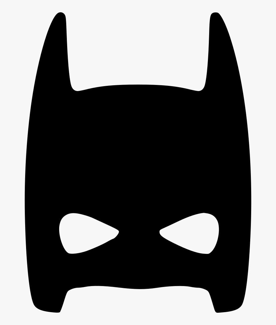 Half Face Mask Skin Hero Comments Clipart , Png Download - Batman Mask Svg Free, Transparent Clipart