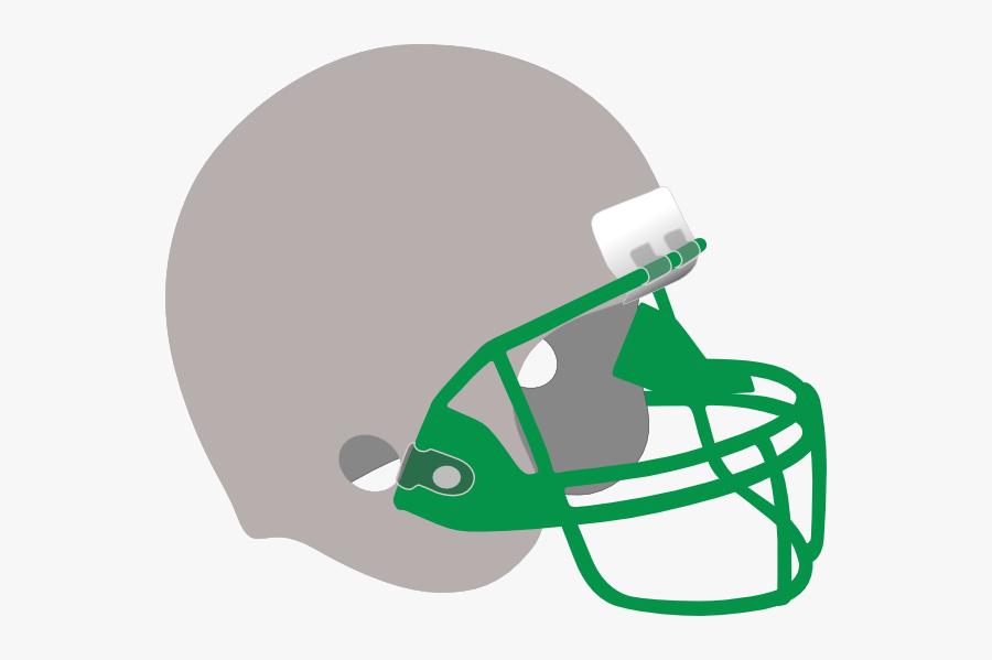 Silver And Green Helmet Svg Clip Arts - Black Football Helmet Png, Transparent Clipart