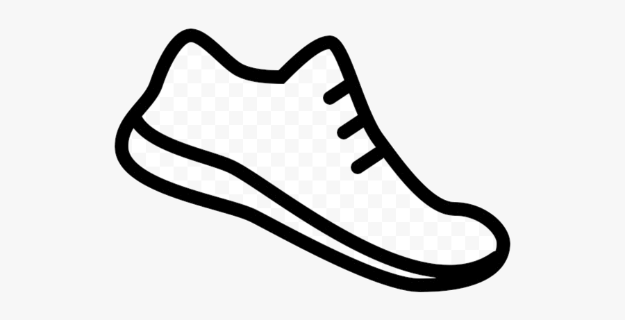 Easy Running Shoes Clipart Drawing Free Transparent - Draw A Running Shoe, Transparent Clipart