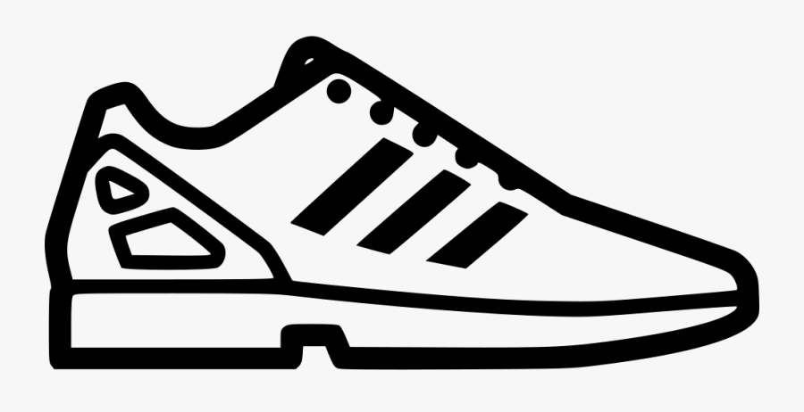 Adidas Shoes Clipart Icon - Adidas Shoe Silhouette Vector, Transparent Clipart