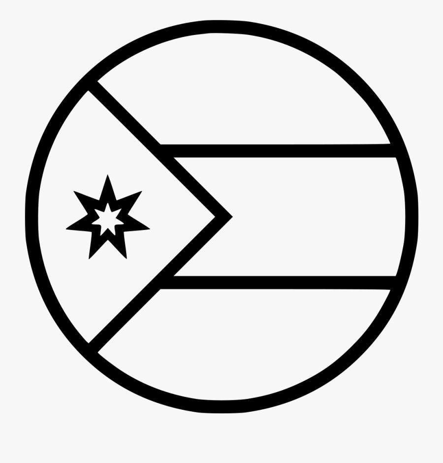 Transparent Jordan Logo Png - Cuba Flag Black And White, Transparent Clipart