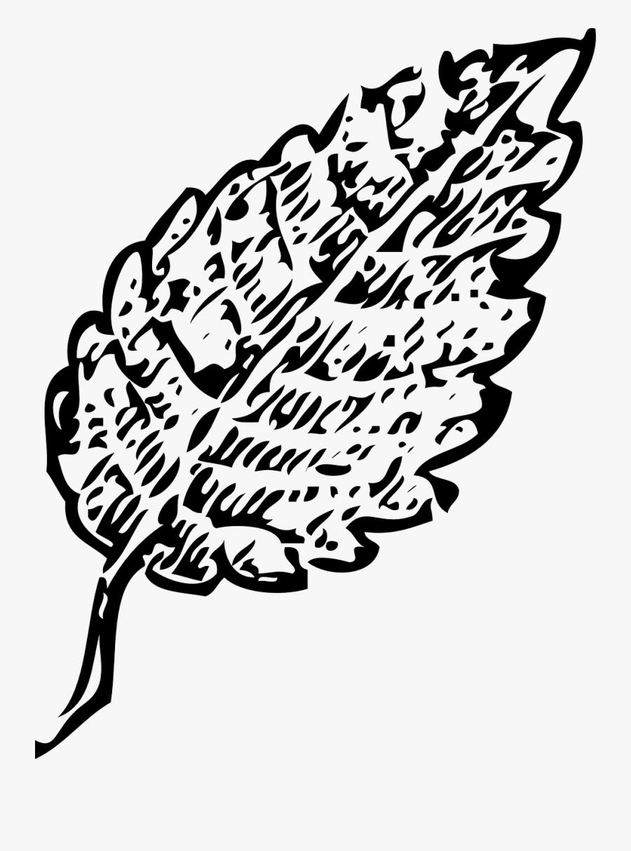 Leaf Clip Art Black, Transparent Clipart