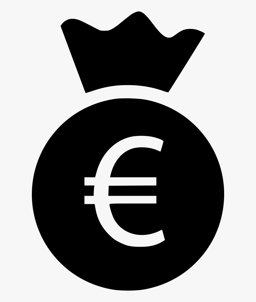 Money Bag Euro Comments - Circle, Transparent Clipart