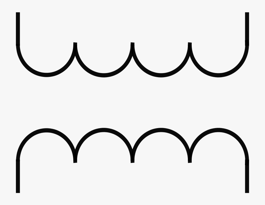 Rsa Iec Transformer Symbol-2 - Electrical Transformer Symbol Png, Transparent Clipart